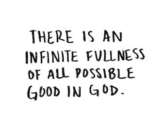 God's Goodness Hand-drawn Lettering Print