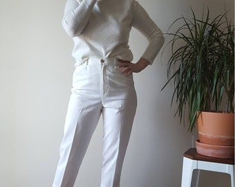 Cropped White Trousers