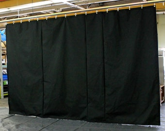 Black Stage Curtain/Backdrop/Partition, 8'H x 15'W, Non-FR, Free Shipping, Custom Sizes Available!