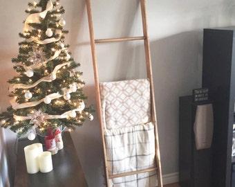 Blanket Ladder - Wooden Ladder - Blanket Decor- Wedding Decor