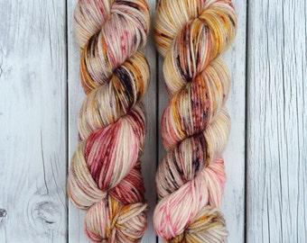 Love Potions Eh, DK, DK yarn, hand dyed yarn, indie dyed yarn, speckled yarn, wool