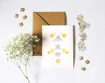 The Bee Hive Greeting Card