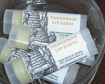 Tangerine Lip Balm-Lip Gloss-Moisturizing-Oval tube