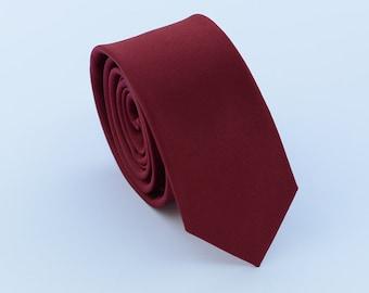Dark Red Wedding Ties.Men Ties. Neckties for Men.Business Ties.Groomsman Skinny Ties