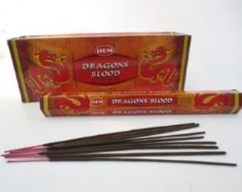 HEM Dragon's Blood Incense - occult spiritual protection incense