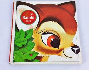 The Bambi Book Walt Disney 1976 Childrens Vintage Book Golden Hardcover Goldencraft Binding