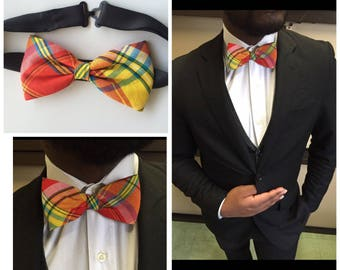 Bow tie for men red Madras