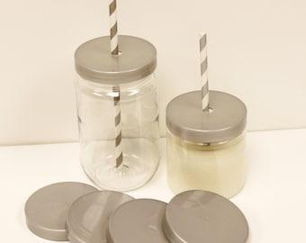 "Plastic Mason Jars, 12 Mason Jars with Lids, ""SPILL PROOF""  Jar Lids, Mason Jar Cups, Mason Jar Favors, Table Setting, Baby Shower Favors"