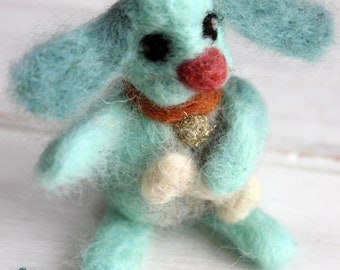 Little Blue the needle felted doggie