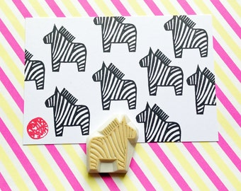 zebra rubber stamp | safari animal stamp | baby shower birthday card making | diy planner | gift for kids | hand carved by talktothesun