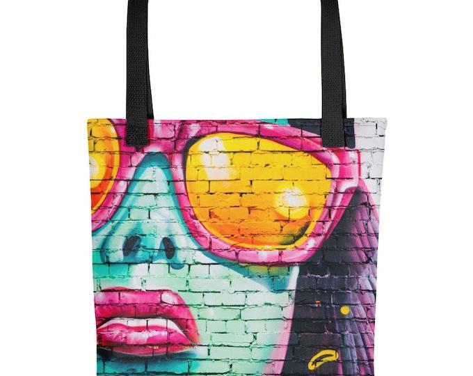 Tote Bag Girl In Pink Sunglasses