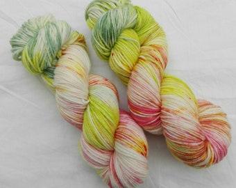 Hand dyed DK yarn Spring