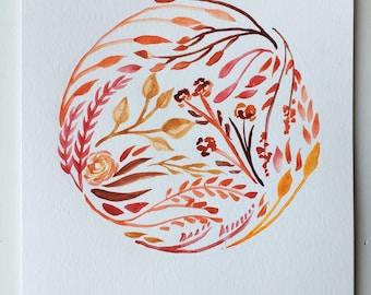 Mars Floral Watercolor