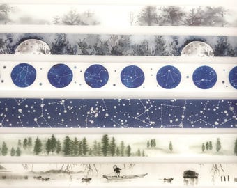 Washitape Samples - Forest, Moon, Galaxy..