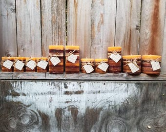 Frankincense and Myrrh Scented Pillar Candles