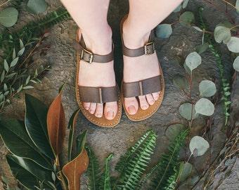 Brown Leather Sandals, Ankle Sandals, Summer Sandals, Summer Shoes, Vintage Brown, Women Sandals, Strappy Sandals, Brown Sandals