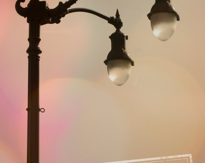 Old Hollywood Glamour, No Business Like Show Business, Art Deco Street Lamp, Los Angeles 8x12 Fine Art Photograph
