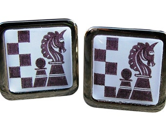 Chess Cufflinks from an original graphic image