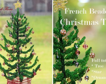 KIT French beaded Christmas tree tutorial/pattern