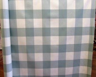 BUFFALO CHECK  in seabreeze, designer/decorator/drapery/upholstery fabric