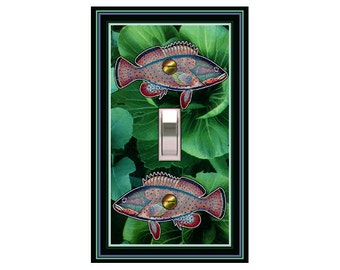 0207A-Mythical Fish light switch plate cover-mrs butler switchplates - -ck out 0207b