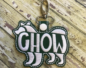 Chow Text Fill Keychain