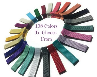 100 Solid Lined Alligator Clips, 45mm Lined Clips, No Slip Hair Clips, Solid Hair Clips, Double, Single Prong, Fully, Partially Lined Clips