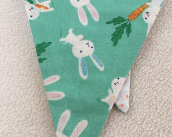 Rabbit & Carrot Bunting, Summer, BBQ, Party Decoration, Garland, Baby Shower, Nursery, New Mum, Kids Room, Wall Art, Gift Idea. Pawcrafts