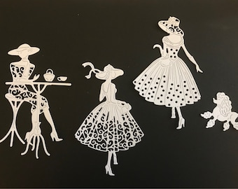 Tattered Lace - out for a stroll die cuts