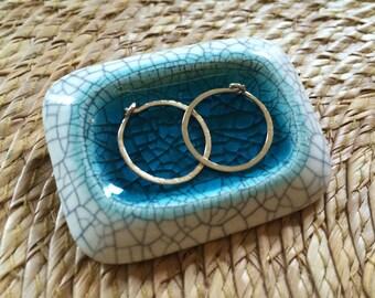 Small Gold Hoop Earrings 15mm Hammered Gold Hoops Tiny Gold Hoops Delicate Gold Earrings Gold Filled Hoop Earrings