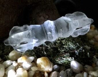 Quartz Crystal Dorje - Sacred Symbol, Tibetan, Buddhist, Jewelry Supply, Quartz Crystal, Crystal Healing