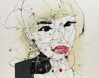 "Hannah, oil on paper, 15"" x 18"""