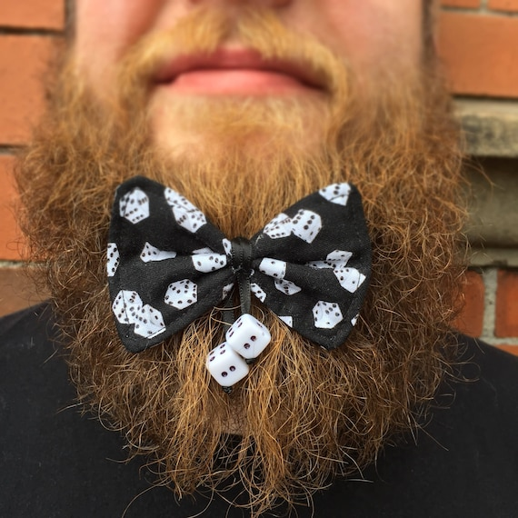 Dice Casino Beard Bow Tattoo Rockabilly