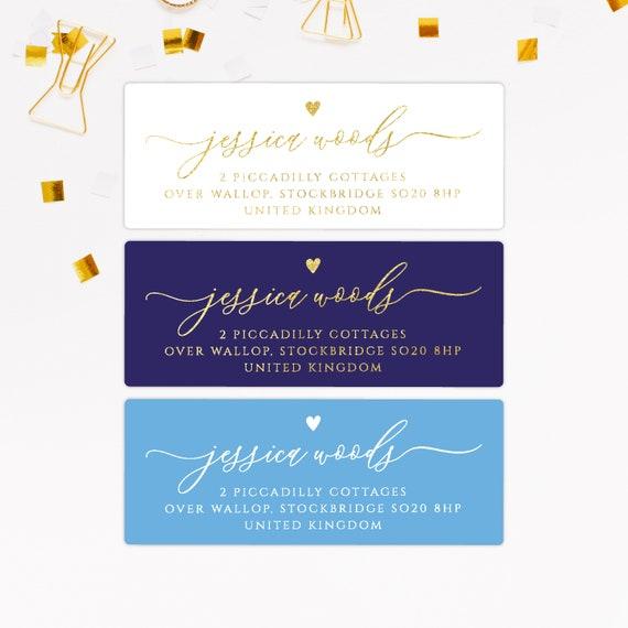 Return Address Labels Return Address Stickers For Wedding Self Adhesive Address Labels Wedding Address Labels Personalised Gift For Her