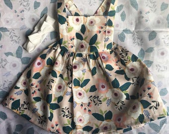 Toddler girls pinafore overall dress
