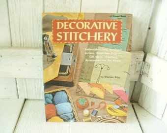 """Vintage book """"Decorative Stitchery"""" craft instruction embroidery applique Sunset 1969- free shipping US"""