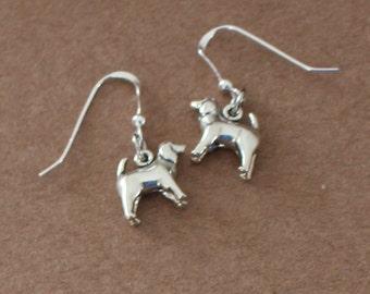 Earrings - Sterling Silver 3D SPANIEL DOG -  Pet