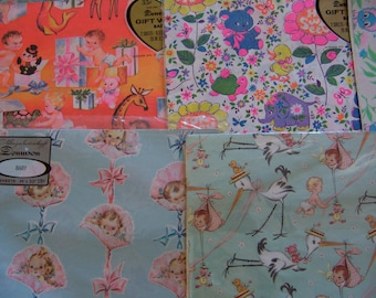 super cute cute vintage variety gift wrap