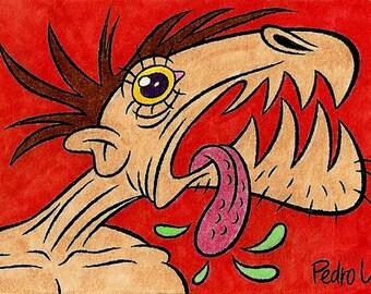 Scary Man Sketch Card (Inktober 2014)
