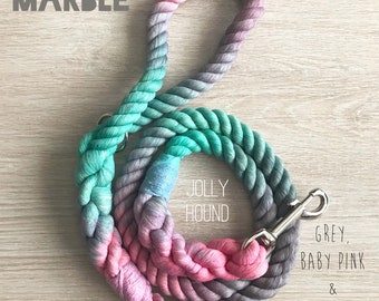 16mm Marble Ombré Rope Dog Leash / ombre leash / cotton / rope dog lead / long lead / long dog lead / rope leash / large dog