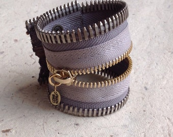Grey Zipper Bracelet