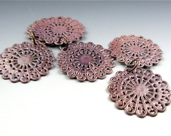 Enameled Round Filigree / Napa Enamel / Made to order