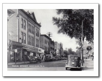 Main St., Madison, New Jersey NJ REPRO Vintage Postcard R250622