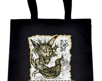 Necronomicon Demon Crossbody Sling Bag Tote Bag Book of the Dead - TB-2015038
