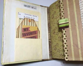 Vintage Junk Journal with Kit - Altered Children's Book - Smashbook - Scrapbook