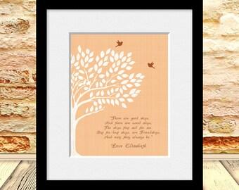 FRIENDSHIP Poem, Best Friends Wedding Gift, Best Friend Gift Print, Maid of Honor Gift, Best Friend's Gift, Personalized Best Friend Gift