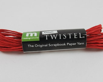DOLLAR SALE - Making Memories Red Twistel Paper Yarn #AA231.2