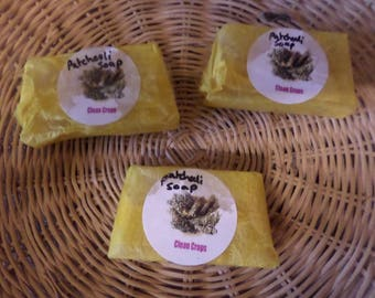 Natural patchouli soap bar, 7cm x 4cm