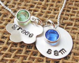 Mother's Necklace  - Personalized necklace -Custom mommy necklace  - Birthstone Necklace - Mother's Day Gift