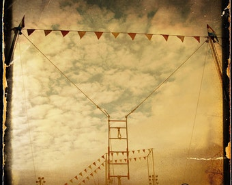 Gold Sky Trapeze Photograph--The Flyiing Trapeze--Fine Art